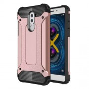 Armor Guard PC + TPU Combo Phone Cover for Huawei Honor 6x (2017) - Rose Gold