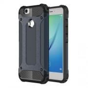 Hybrid Plastic + TPU Case with Carbon Fiber Decoration for Huawei Nova - Dark Blue