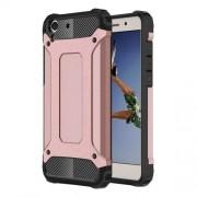 Tough Armor Υβριδική Θήκη Σιλικόνης TPU σε Συνδυαμό με Πλαστικό για Huawei Honor Y6II / Υ6 ΙΙ / 5A - Ροζέ Χρυσαφί