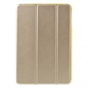 Tri-fold PU Leather and Back TPU Shell for iPad Mini 1/2/3 - Champagne
