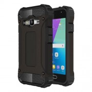 Armor Guard Plastic + TPU Hybrid Case for Samsung Galaxy J1 mini prime - Black