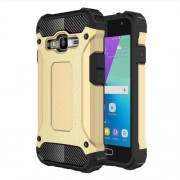 Armor Guard Plastic + TPU Hybrid Case Cover for Samsung Galaxy J1 mini prime - Gold