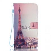 Wallet Stand Leather Flip Case for Samsung Galaxy J7 (2016) - Paris Eiffel Tower