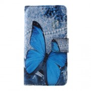 Callfree PU Leather Cover for Samsung Galaxy A3 SM-A310F (2016) - Blue Butterfly