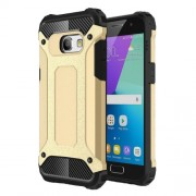 Phone Accessory Heavy Duty Rugged Hybrid Case (Plastic + TPU) for Samsung Galaxy A3 (2017) - Gold