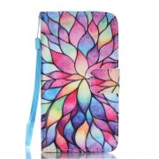 Wallet Leather Magnetic Case for Samsung Galaxy A5 SM-A510F (2016) - Colorful Flowers