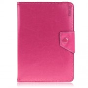 ENKAY ENK-7040 Universal Crazy Horse Leather Case for Tablet PCs with Stand, Size: 20-23.5 x 12-15cm - Rose