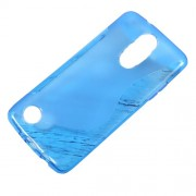 For LG Aristo MS210 / K8 2017 M200N S-Shape TPU Gel Phone Accessory Case - Blue