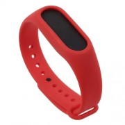 Flexible TPU Bracelet Replacement for Xiaomi Mi Band 2 - Red