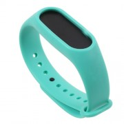 Flexible TPU Wrist Band Blet Replacement for Xiaomi Mi Band 2 - Cyan