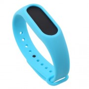 Soft TPU Wrist Strap Accessories for Xiaomi Mi Band 2 - Blue