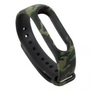 Pattern Printing Flexible TPU Wristband Strap for Xiaomi Mi Band 2 - Camouflage
