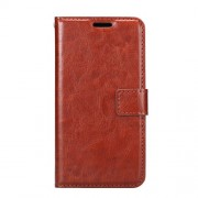 Crazy Horse Stand Leather Wallet Case for Huawei P8 Lite (2017) / Honor 8 Lite - Brown