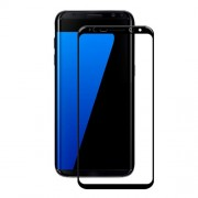 AMORUS Full Size Silk Printing Tempered Glass Screen Protector for Samsung Galaxy S8 - Black