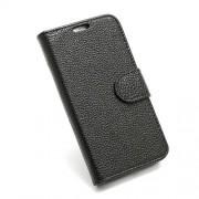 Δερμάτινη Θήκη Πορτοφόλι με Βάση Στήριξης (Ανάγλυφη Όψη) για Samsung Galaxy S3 i9300 - Μαύρο