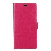 Δερμάτινη Θήκη Πορτοφόλι με Βάση Στήριξης (Γυαλιστερή Όψη) για LG G6 - Φούξια