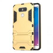 Υβριδική Θήκη Συνδυασμού Σιλικόνης TPU και Πλαστικού με Βάση Στήριξης για LG G6 - Χρυσαφί