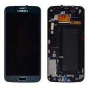 Original Samsung Lcd Screen and Digitizer for Samsung Galaxy S6 Edge SM-G925F (GH97-17162E) - Green