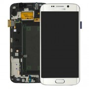 Original Samsung Lcd Screen and Digitizer for Samsung Galaxy S6 Edge SM-G925F (GH97-17162B) - White