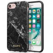 LAUT Huex Elements Θήκη Σιλικόνης Υψηλής Ποιότητας για iPhone 8 / 7 / 6 / 6s - Μότιβο Μαρμάρου Λευκό (Marble Black)