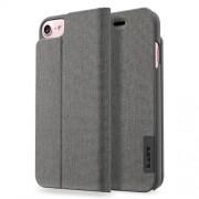 LAUT Apex Knit Θήκη Βιβλίο με Βάση Στήριξης (Υφασμάτινη Επένδυση) για iPhone 7 Plus / 6 Plus / 6s Plus - Γκρι (Granite)