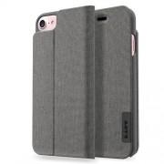 LAUT Apex Knit Θήκη Βιβλίο με Βάση Στήριξης (Υφασμάτινη Επένδυση) για iPhone 8 / 7 / 6 / 6s - Γκρι (Granite)