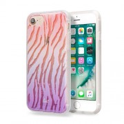 LAUT Ombre Peach Θήκη Σιλικόνης Υψηλής Ποιότητας για iPhone 7 Plus / 6 Plus / 6s Plus - Μότιβο Ombre Peach