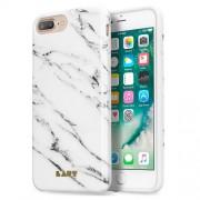 LAUT Huex Elements Θήκη Σιλικόνης Υψηλής Ποιότητας για iPhone 8 Plus / 7 Plus / 6 Plus / 6s Plus - Μότιβο Μαρμάρου Μαύρου (Marble White)