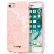 LAUT Huex Elements Silikone Case for iPhone 7 Plus / 6 Plus / 6s Plus - Marble Pink