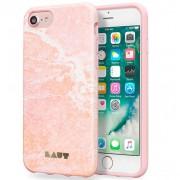 LAUT Huex Elements Θήκη Σιλικόνης Υψηλής Ποιότητας για iPhone 8 Plus / 7 Plus / 6 Plus / 6s Plus - Μότιβο Μαρμάρου Ροζ (Marble Pink)