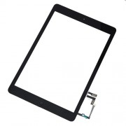 Touch Screen Digitizer Assembly with Sticker and Home Button Replacement Parts for iPad Air - Black
