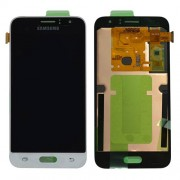 Original Samsung LCD and Digitizer Touch Screen for Samsung Galaxy J1 (2016) SM-J120 - White (GH97-18224A)