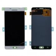 Original Samsung LCD + Digitizer Touch Screen for Samsung Galaxy A5 (2016) SM-A510 - White (GH97-18250A)
