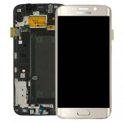 Original Samsung Lcd Screen and Digitizer for Samsung Galaxy S6 Edge SM-G925F (GH97-17162A) - Gold