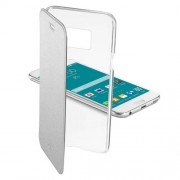 Cellularline Case Galaxy S6 Flat Clear Book - Silver (CLEARBOOKGALS6S)