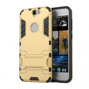 For HTC One A9 Cool Plastic + TPU Shield Cover with Kickstand - Gold