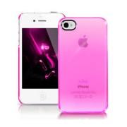 Ezi Σκληρή Θήκη για iPhone 4s 4 - Ημιδιάφανο Ροζ (EZI-BC-CR_PK-IP4S)