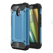 Armor Guard Plastic + TPU Combo Shell Case for Motorola Moto E3 - Baby Blue