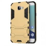 Υβριδική Θήκη Σιλικόνης TPU σε Συνδυαμό με Πλαστικό και με Βάση Στήριξης για Samsung Galaxy A8 (2016) - Χρυσαφί