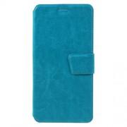 Δερμάτινη Θήκη Πορτοφόλι με Βάση Στήριξης για Samsung Galaxy C7 - Μπλε