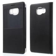 Δερμάτινη Θήκη Βιβλίο Smart Cover για Samsung Galaxy C5 - Μαύρο