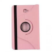 Litchi Texture Rotary Stand Leather Flip Case for Samsung Galaxy Tab A 10.1 (2016) T580 T585 - Pink