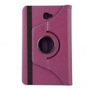 Litchi Texture Rotary Stand Leather Shell Case for Samsung Galaxy Tab A 10.1 (2016) T580 T585 - Purple