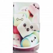 Δερμάτινη Θήκη Πορτοφόλι με Βάση Στήριξης για Samsung Galaxy J5 SM-J500F - Χαριτωμένα Ζαχαρωτά