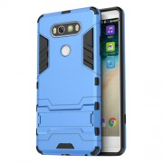 Solid PC + TPU Combo Case with Kickstand for LG V20 - Baby Blue