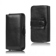 Leather Belt Clip Holster Pouch Case for Samsung Galaxy S 3 III I9300 S4 IV i9500,Black