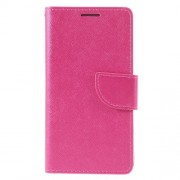 Cross Grain Leather Wallet Phone Case for Huawei P9 - Rose