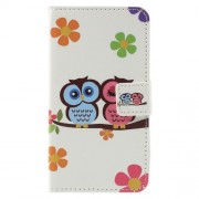 Stylish Patterned Leather Wallet Stand Cover for Samsung Galaxy J1 (2016) - Sweet Lovers