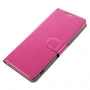 Δερμάτινη Θήκη Πορτοφόλι με Βάση Στήριξης για Sony Xperia XA Ultra - Φούξια