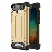 Armor Guard Plastic + TPU Back Shell for Xiaomi Redmi 3S / 3X - Gold